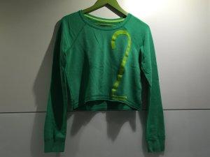 Hollister Sweater/Pulli cropped grün/hellgrün Gr.S/M