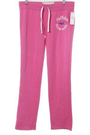 Hollister Pantalone fitness rosa caratteri ricamati soffice