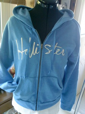 HOLLISTER Sweatjacke blau in M