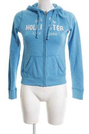Hollister Sweatjack blauw gedrukte letters atletische stijl