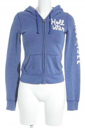 Hollister Sweatjacke blau-weiß Casual-Look