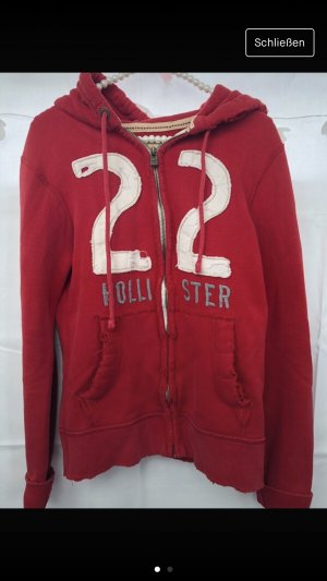 Hollister Hooded Sweatshirt red