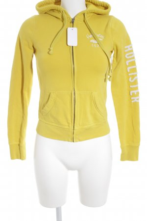 Hollister Sweatjacke gelb-weiß Casual-Look