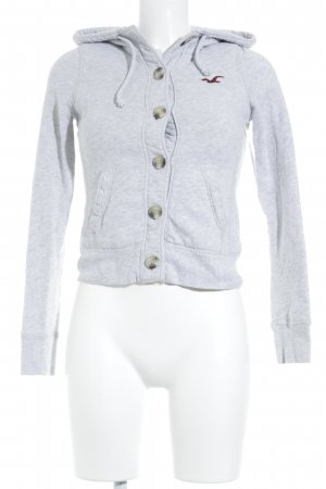 Hollister Sweatjacke hellgrau Casual-Look