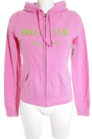 Hollister Sweatjacke pink-neongrün sportlicher Stil