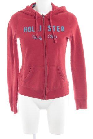 Hollister Chaqueta de tela de sudadera rojo-azul neón estilo deportivo