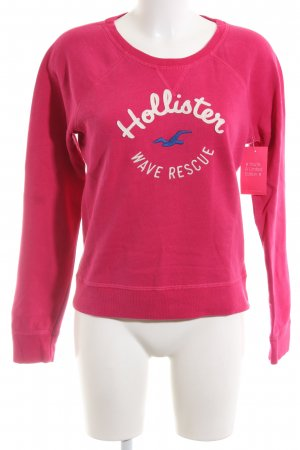 Hollister Sweatshirt Motivdruck Casual-Look