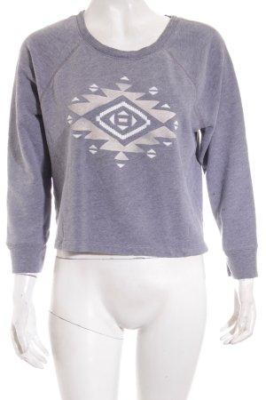 Hollister Sweatshirt abstraktes Muster Urban-Look