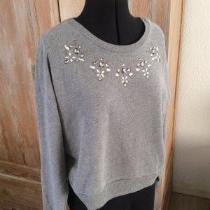 Hollister Sweatshirt zilver Katoen