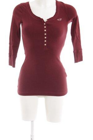Hollister Sweatshirt dunkelrot-wollweiß Romantik-Look