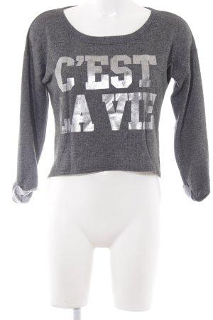 Hollister Sweatshirt grau meliert Casual-Look