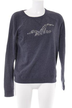 Hollister Sweatshirt graublau meliert Casual-Look