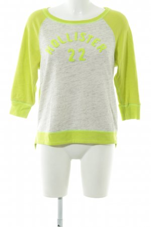 Hollister Sweatshirt jaune citron vert-gris clair style décontracté
