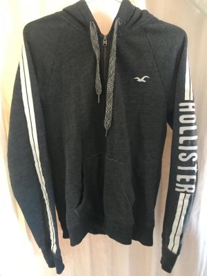 Hollister Veste sweat gris-blanc