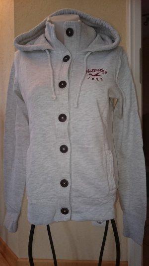 Hollister Sweatshirtjacke Gr L Grau