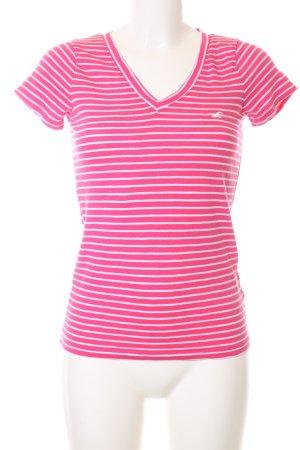Hollister T-Shirt pink-weiß Streifenmuster Casual-Look