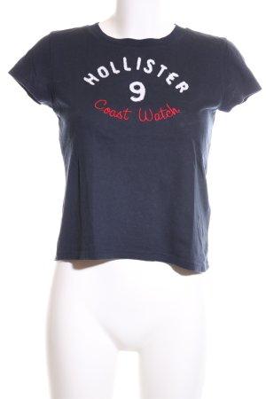 Hollister T-Shirt Schriftzug gedruckt Casual-Look