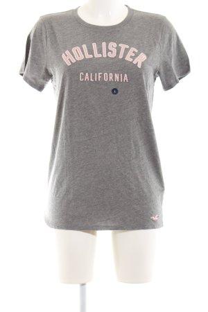 Hollister T-Shirt hellgrau-pink meliert Casual-Look