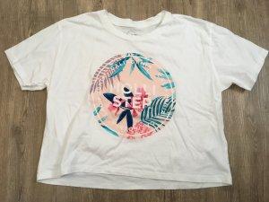 Hollister T-shirt court blanc-rose