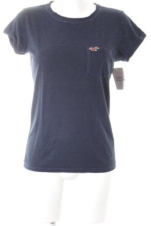 Hollister T-Shirt dunkelblau schlichter Stil