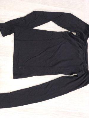 Hollister Camisa acanalada negro Algodón