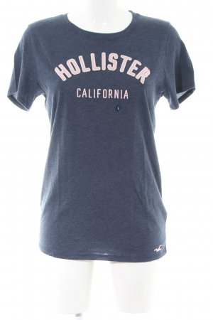 Hollister T-Shirt blau meliert Casual-Look