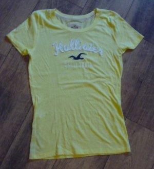Hollister T-Shirt gelb blau Gr. L