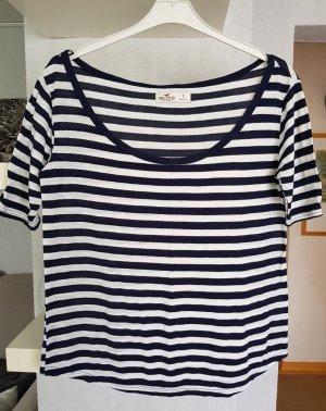 Hollister Gestreept shirt wit-blauw