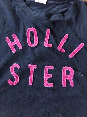 Hollister T Shirt GR: XS dunkelblau / Pink Kids
