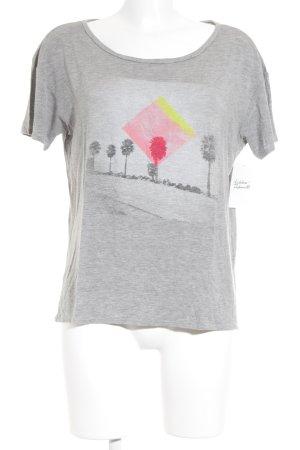 Hollister T-Shirt grau Casual-Look