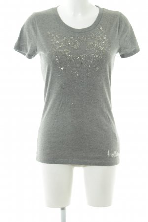 Hollister T-Shirt grau Casual-Look