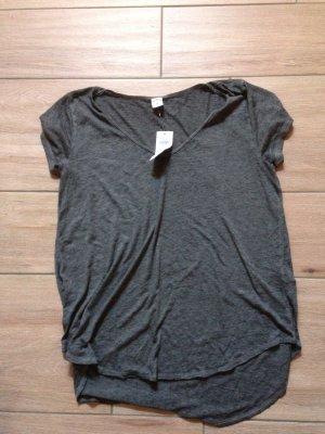Hollister T-Shirt Größe M dunkelgrau weit geschnitten