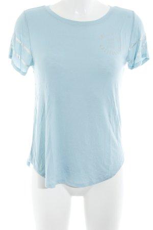 Hollister T-Shirt hellblau Schriftzug gedruckt