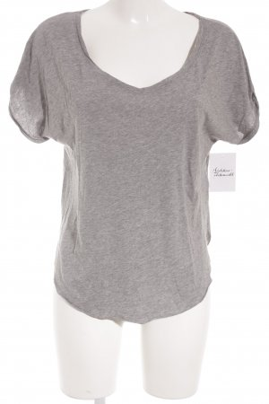 Hollister T-Shirt hellgrau meliert schlichter Stil
