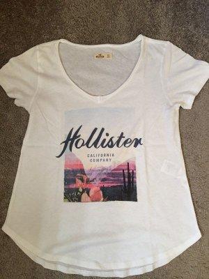 Hollister Maglia con scollo a V bianco