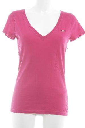 Hollister T-Shirt pink-magenta Beach-Look