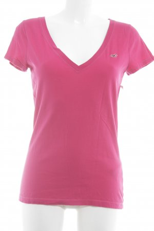 Hollister T-Shirt pink-magenta Beach-Look