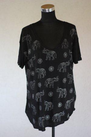 Hollister T-Shirt Print Shirt Elefanten Print Blogger