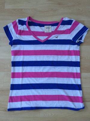 Hollister T-Shirt rosa/weiß/blau