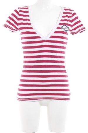 Hollister T-Shirt rosé-magenta Streifenmuster Casual-Look