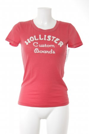 Hollister T-Shirt rot-weiß Casual-Look