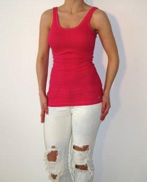 Hollister Tanktop Top Rippshirt Shirt Top Oberteil XS Pink NEU