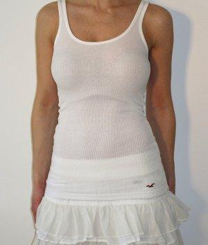 Hollister Tanktop Top Rippshirt Shirt Top Oberteil XS Weiß NEU