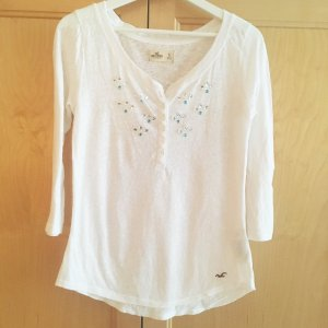 Hollister Top mit Glitzerstein Applikationen