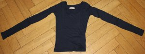 Hollister Top Shirt dunkelblau Gr. XS 34 Stretch Langarm