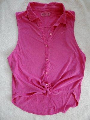 Hollister-Top zum Aufknöpfen in Pink