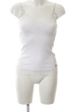 Hollister Canotta a bretelle bianco modello web stile casual