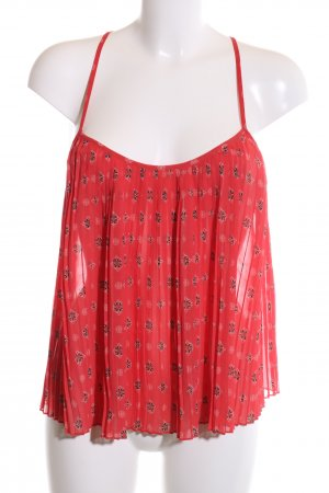 Hollister Strappy Top red mixed pattern casual look