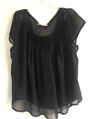 Hollister transparente Bluse schwarz