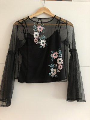 Hollister Empiècement de blouses noir